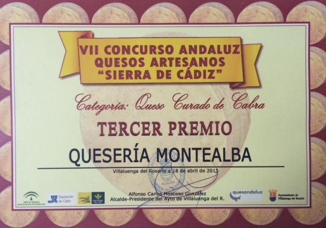 Premio recibido en Villaluenga, aunque con falta de ortografía en nuestro nombre